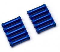 軽量アルミラウンドセクションスペーサーM3x20mm(ブルー)(10個入り)