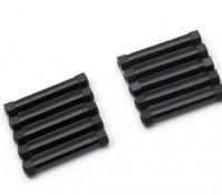 軽量アルミラウンドセクションスペーサーM3x29mm(ブラック)(10個入り)