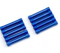 軽量アルミラウンドセクションスペーサーM3x30mm(ブルー)(10個入り)