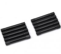 軽量アルミラウンドセクションスペーサーM3x37mm(ブラック)(10個入り)
