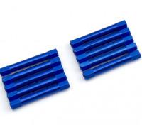 軽量アルミラウンドセクションスペーサーM3x37mm(ブルー)(10個入り)