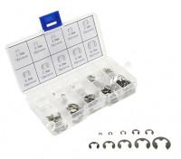 プラスチック製のボックス内盛り合わせE-クリップ(120pcs)