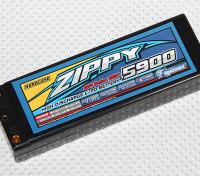 ジッピー5900mah 2S2P 60Cハードケースパック