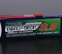 Turnigyナノテクノロジー3000mAhの2S1P 20〜40℃のLiFePO4受信機パック