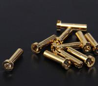 4ミリメートルゴールドコネクタ - ロープロファイル(10PC)