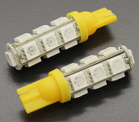 LEDコーンライト12V 2.6W(13 LED) - イエロー(2個)