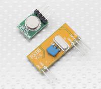スーパーヘテロダイン3310ワイヤレス受信機モジュールと315RFワイヤレストランスミッターモジュール