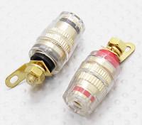 女性の4ミリメートル電気バインディングポストは、DC 50Ampを12-24V