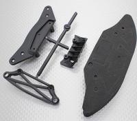 バンパーセット(F&R) -  1/10 Hobbykingミッション-D 4WD GTRドリフトカー
