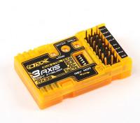 OrangeRX RX3S 3軸フライトスタビライザーV2(V2.1ファームウェア)(V-テール/デルタ/ AUX)