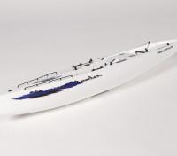 グラスファイバーRCヨットヨットモンスーン - ハル(サーボ2個を含みます)