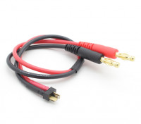 ミニT-コネクタ充電リードW / 4ミリメートルバナナプラグ