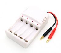 4ミリメートルバナナプラグ充電リードとAA〜AAAニッケル水素電池ホルダー