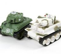 赤外線コントロールマイクロコンバットタンク設定(M4シャーマン&ドイツのタイガー1)