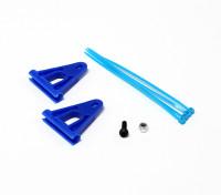 6ミリメートルロッド用RJXテールブームサポート強化 - ブルー