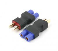 EC3電池アダプタープラグ(2PC)の新バージョンへのT-コネクタ