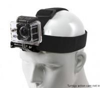 GoPro / Turnigyアクションカムのための調節可能な伸縮性ヘッドストラップ