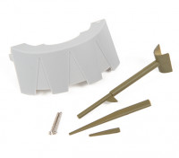 DuraflyカーチスP-40Nウォーホークの交換用プラスチックスケールパーツ。