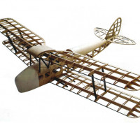 デ・ハビランドDH82aタイガーモス複葉機1400ミリメートルのレーザーカットバルサ(キット)