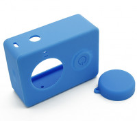 Xiaoyiアクションカメラ用の保護ケースとレンズキャップ(ブルー)