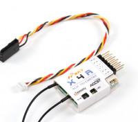 FrSky X4R 4CH 2.4GHzのACCSTレシーバー(テレメトリ/ワット)(2015年EU版)
