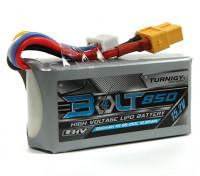 Turnigyボルト850mAh 4S 15.2V 65〜130℃の高電圧Lipolyパック(LiHV)