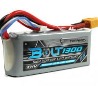 Turnigyボルト1300mAh 3S 11.4V 65〜130℃の高電圧Lipolyパック(LiHV)