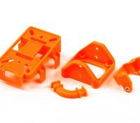 FPVチルトマウントパーツ(DIY用4プラスチック部品の集合)(オレンジ)