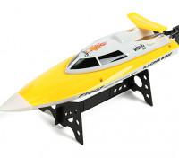 FT007バイタリティVハルレーシングボート360ミリメートル - イエロー(RTR)