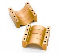 ブラックアルマイトCNC半円合金管クランプ(incl.screws)30ミリメートル