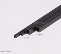 カーボンファイバースクエアチューブ750x3mm
