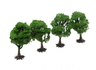 HobbyKing™ 90mm Scenic Wire Model Trees with Base (4 pcs)