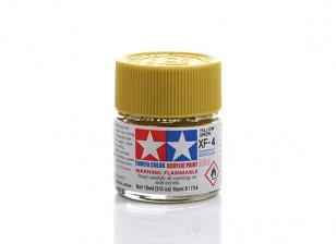 Tamiya XF-4 Flat Yellow Green Mini Acrylic Paint (10ml)