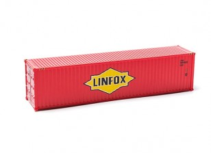 HO Scale 40ft Shipping Container (LINFOX)) side view