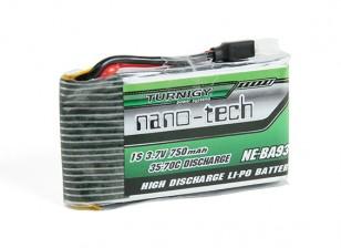 Turnigyナノテクノロジーの750mAh 1S 35〜70Cリポパック(ナインイーグルスソロ-Proの180に適合)