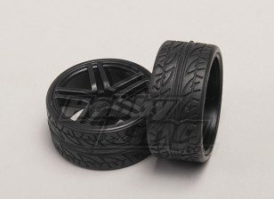 ホイール/タイヤ(2個/袋) -  1/18 4WD RTRオンロードドリフトカー