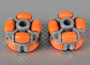 40x28mmプラスチックオムニホイール(2個/袋)