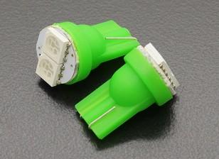 LEDコーンライト12V 0.4W(2 LED) - グリーン(2個)