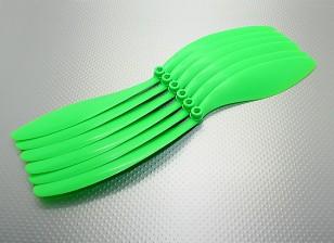 GWS EPプロペラブラック(RD-1280の305x203mm)、緑(6PC /袋)