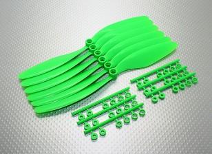 GWS EPプロペラ(RD-8043の203x109mm)、緑(6PCS /セット)