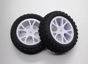 フロントバギータイヤセット2セット(スプリット5スポーク) -  1/10 Quanumバンダル4WDレーシングバギー(2個)