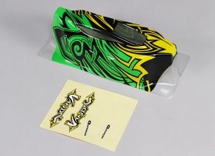 1/10 Quanumバンダル4WDレーシングバギー - ボディ(塗装済み完成品)デカール/ワット