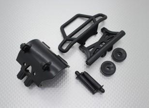 Quanumスカルクラッシャー2WD  - バンパーセット、リンクプレートとwheeliebar
