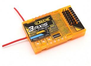 DSM2互換性6CH 2.4GHzのレシーバー/ワットOrangeRX RX3S 3軸フライトスタビライザー