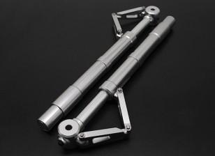 Turnigy 60〜90サイズトレーリングリンク(140ミリメートル)2PCとの合金シュプルングオレオストラット