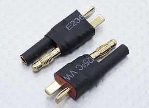 HXT 4ミリメートル電池アダプターのリードにT-コネクタ(2PC)