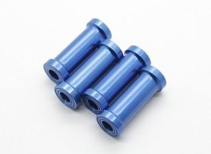 30ミリメートルCNCアルミスタンドオフ(ブルー)4本