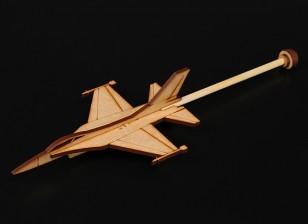 F-16練習スティックプレーンレーザーカットウッドモデル(キット)
