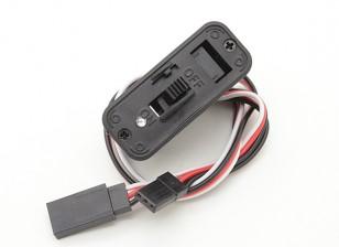 充電ソケットとバッテリーインジケータライトを内蔵した双葉スイッチのハーネス
