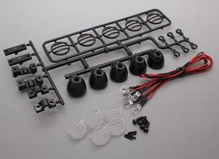 Hobbyking LEDライトバーセット(ブラック)